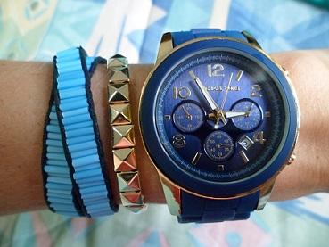 kit.relogio.azul.pulseiras