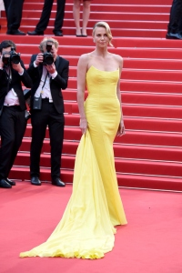 "CANNES, FRANCE - MAY 14:  Charlize Theron attends the ""Mad Max : Fury Road""  Premiere during the 68th annual Cannes Film Festival on May 14, 2015 in Cannes, France.  (Photo by Venturelli/WireImage)"